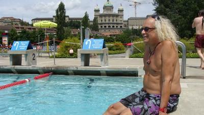 Wir waren mit J.P. Love im Marzili-Bad