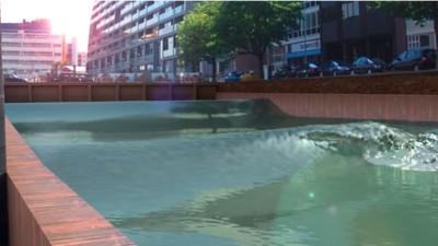 Binnenkort kun je surfen door de Rotterdamse grachten