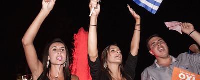 """Athen feiert sein deutliches """"Nein"""""""