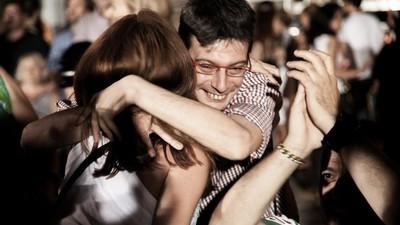 Cum au sărbătorit grecii rezultatul referendumului, în centrul Atenei