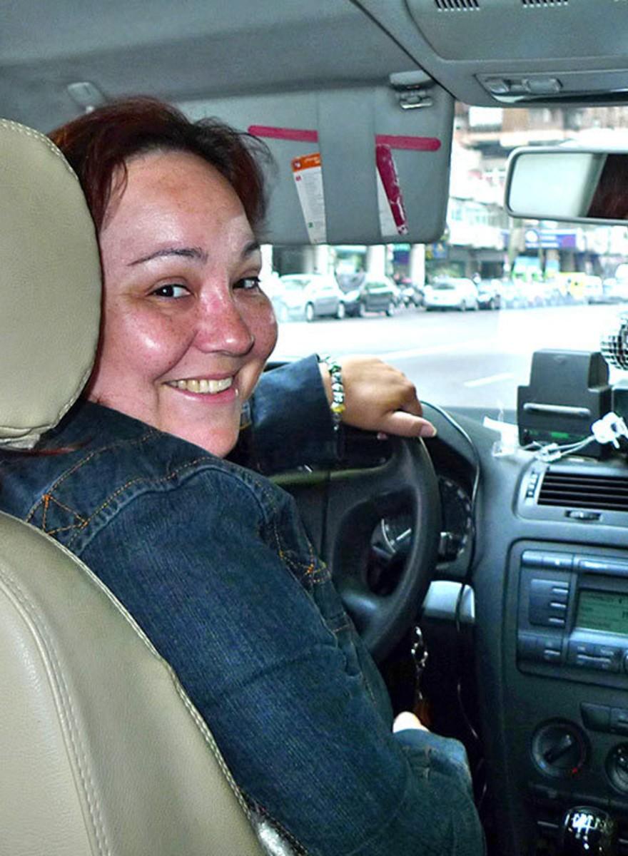 Retratos de los taxistas y las taxistas de Madrid