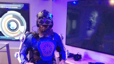 I Wore a Mechanical Suit Designed to Make Me Feel Like a Decrepit Old Man, and It Worked