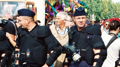 In Budapest, LGBT Pride Behind the Police Barricades
