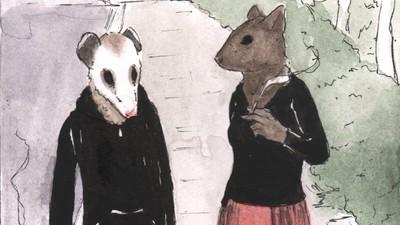 Der Eichhörnchenmann will sich eine Tschick schnorren