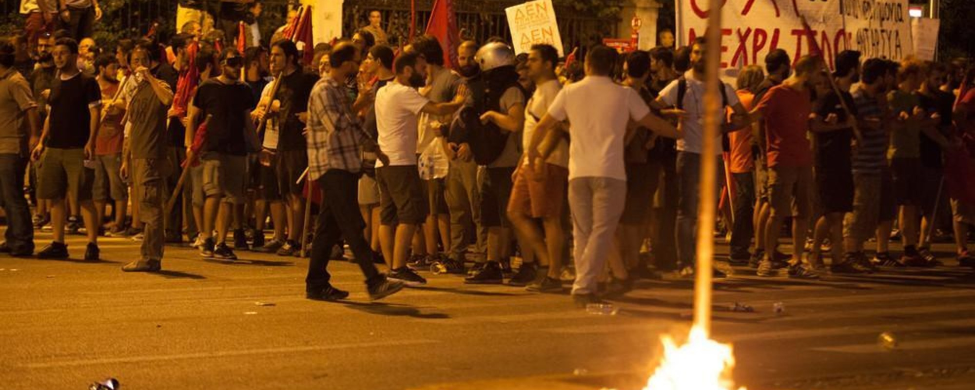 Greeks Saluted the Latest Bailout With Tear Gas and Molotov Bombs Last Night