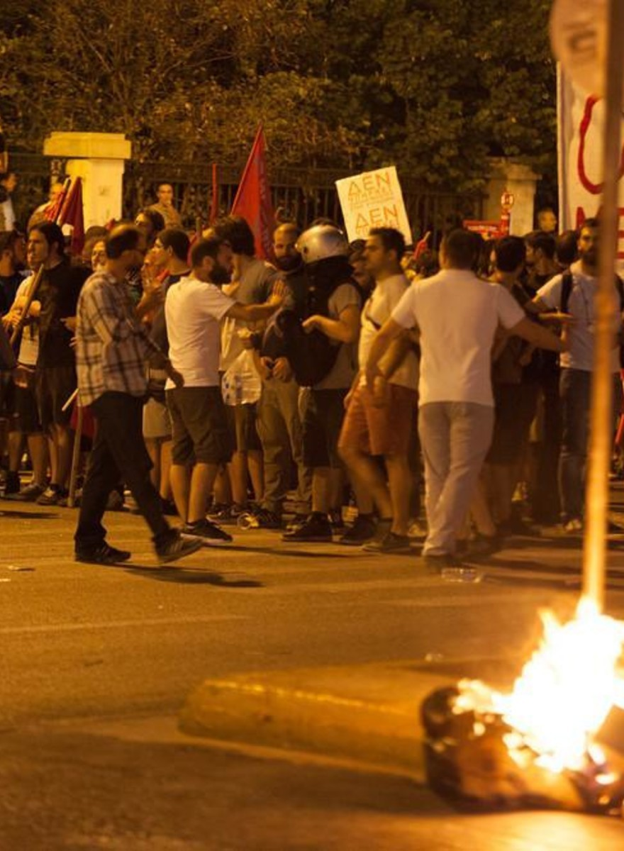 Protests Erupt in Athens Ahead of Greek Bailout Vote