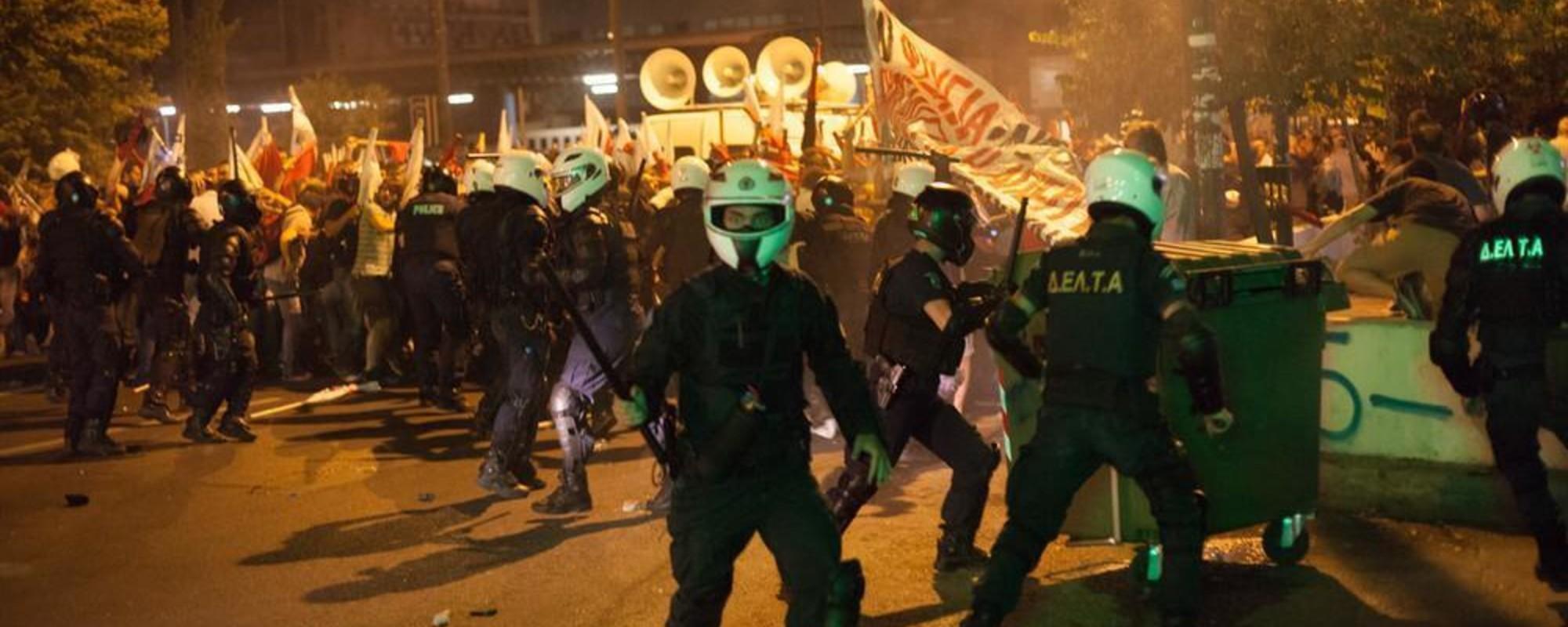 Fotos de las protestas en Atenas previas a la votación sobre el rescate de Grecia