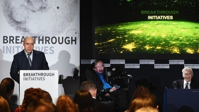 Yuri Milner Has Launched a Search for Aliens with Stephen Hawking at His Side
