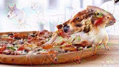Videoclipul ăsta DeepDream înfricoșător va schimba pentru totdeauna felul în care privești pizza