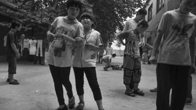 Retratos de niños ciegos en una zona rural de China