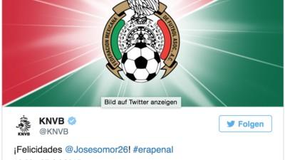 393 Tweets zwischen einem Mexikaner und dem Niederländischen Fußballverband