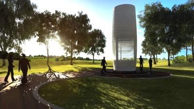 Daan Roosegaarde wil Rotterdam smogvrij gaan maken met de eerste Smog Free Tower ter wereld