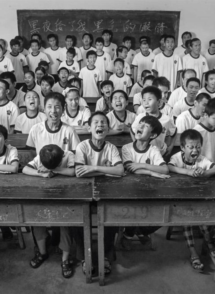 Retratos de Crianças Cegas na China Rural