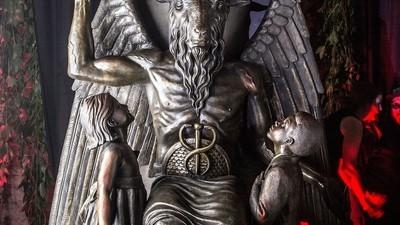 Por Dentro da Festa Secreta de Revelação do Monumento de Baphomet do Templo Satânico