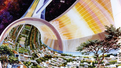 How NASA Developed the Psychedelic Blueprints for the First Cities in Space