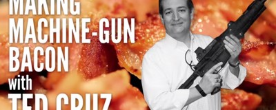 Watch Ted Cruz Cook Bacon on the Barrel of a Machine Gun