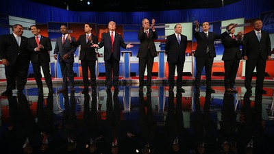 In First US Republican Debate, Ten Candidates Spar on Immigration, Islamic State, and... Donald Trump