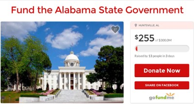 An Alabama Senator Made a GoFundMe Campaign to Crowdfund the State's Budget