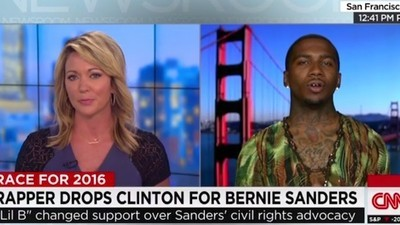 Lil B Went on CNN to Speak About Changing Support from Hillary Clinton to Bernie Sanders