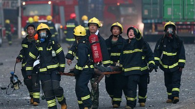 In Photos: The Aftermath of the Massive Explosion in the Chinese City of Tianjin