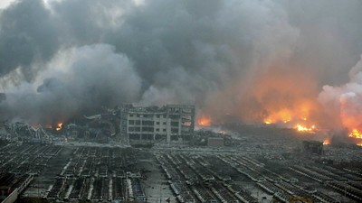 Video Emerges of Horrific Tianjin Explosion as Death Toll Rises