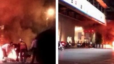 Eine große Explosion hat das Zentrum von Bangkok erschüttert