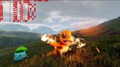 Mario y Charmander se encuentran en este videojuego irreal