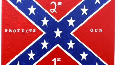 George Zimmerman Makes Confederate Flag Paintings and You Can Get Them at a 'Muslim-Free' Gun Store