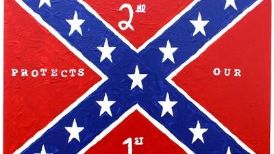 George Zimmerman verkauft Südstaatenflaggen-Gemälde im 'moslemfreien' Waffenladen