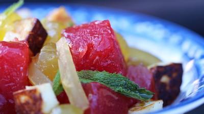 Wassermelonen-Halloumi-Salat mit Minze