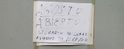 """Reseñamos los carteles de """"Cerrado por vacaciones"""" de Madrid"""