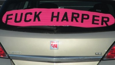 Catching Up with the Canadian Man Fighting for His Right to Fly a 'Fuck Harper' Sign