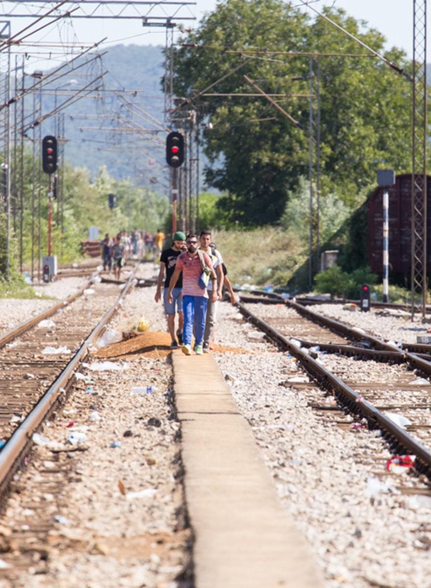 Flucht an der mazedonischen Grenze – Bilder aus einer anderen Zeit