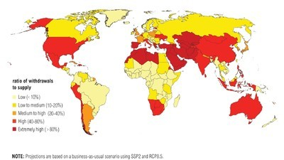 The Nations That Will Be Hardest Hit by Water Shortages by 2040