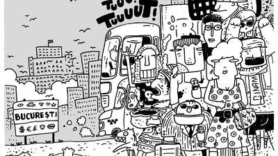 Cum se văd piețele, metrourile și femeile din București, în benzile desenate ale lui Matei Branea