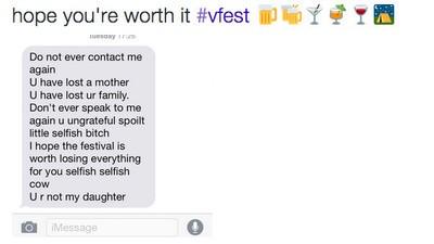 Ein Interview mit dem Mädchen, das wegen eines Festival-Besuchs von ihrer Mutter verstoßen wurde