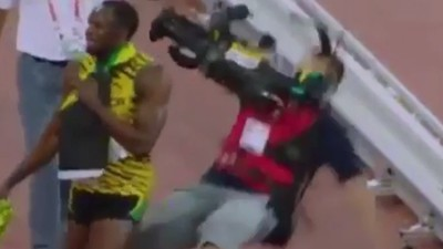 Watch a Mortal Fell a God, or: How This Cameraman Just Took Usain Bolt Out with a Segway