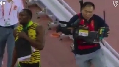 Watch a Mortal Fell a God, or: How This Cameraman Took Usain Bolt Out with a Segway