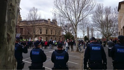 A Day and Night With the Bendigo Mosque Protesters