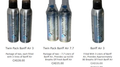 An Alberta Company is Bottling and Selling Air