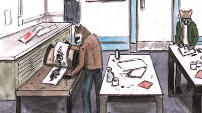 A Racoon Art Student Receives a Strange Phone Call in This Week's 'Habits' Comic