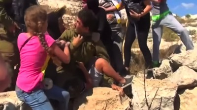 Viral Video of Women Fighting Israeli Soldier Spotlights Harsh Treatment of Stone Throwers
