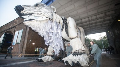 We Watched Greenpeace Park a Gigantic Polar Bear Outside Shell's London HQ This Morning