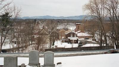 Fotos da Vida de Cidade Pequena de Catskill, Nova York