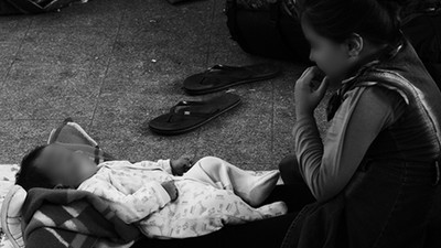 Die Flüchtlinge am Budapester Bahnhof Keleti