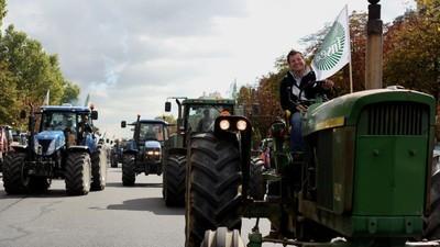 En photos : les tracteurs sont arrivés à Paris