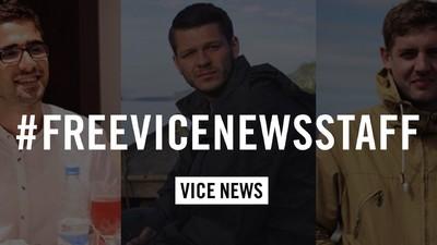 Zwei der festgenommenen VICE News-Journalisten sind freigelassen worden, einer bleibt in Haft