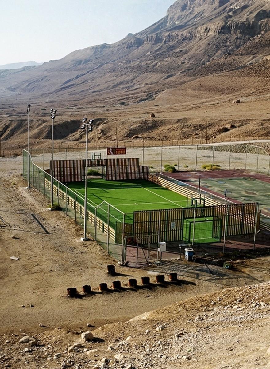 Tennis in der Wüste, Wasserrutschen und der Nahostkonflikt
