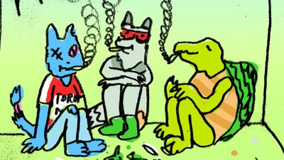Three Talking Animals Hotbox an Attic in the New Comic Series 'Pache'