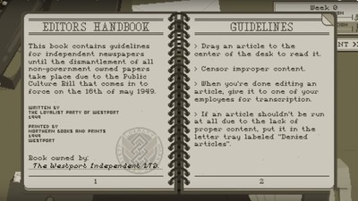 Censorship, Corruption and Bias: A Video Game About Newspaper Journalism